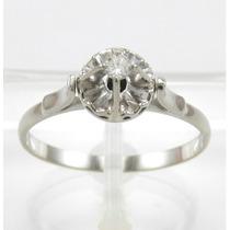 Esfinge Jóias - Anel Solitário Diamante 5pt Aro18 Ouro 18k.