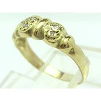 A9518-05841 Anel Ouro 18k Com Diamantes Promoçao