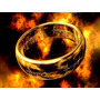 Anel-aliança- Senhor Dos Anéis - Tungstênio Folheado A Ouro