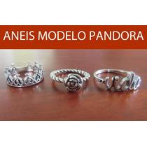 Anel Estilo Pandora Prata 925 Italiana Certificado Garantia