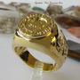 Anel Da Ordem Dos Cavaleiros Templarios Banho Ouro 18k 1445b