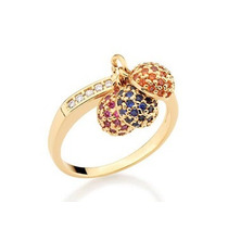 Lindo Anel Rommanel Ouro 18k