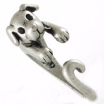 Anel Regulável Cachorrinho Banhado Em Prata Turca