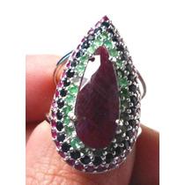 Promoção-dsv-anel Prata 925 Rubi Esmeralda Safira Rodio