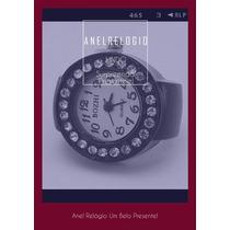 Anel Relógio De Dedo Em Estrass Design Analógico Cores