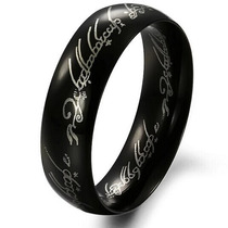 Anel Senhor Dos Anéis Um Anel (one Ring) Tungstênio Preto