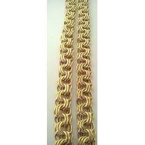 Cordão Modelo Friso Triplo ( Oco). Em Ouro 18kl 750.