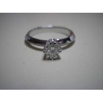 Anel Solitario Noivado C/ Diamante De 30 Pontos Ou 0.30 Ct