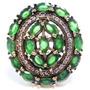 Promoção-eht-anel Turquia Turco Prata 925 Esmeralda
