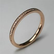 Aliança Aparador Em Ouro 18k Mais Diamantes