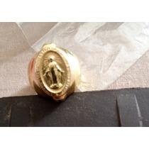 Anel Ouro 18k Nossa Senhora Das Graças ! Estilo Medalha!