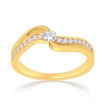 Anel Solitário Em Ouro 18 Quilate E Diamante De 5 Pontos