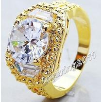 Anel Banhado A Ouro Com Pedra Semi Preciosa