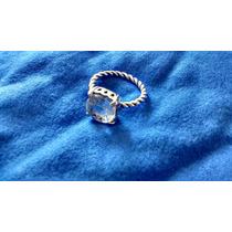 Anel Estilo Pandora Pedra Cristal