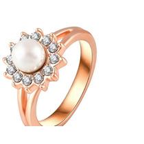 Anel Ouro 18k Pedra Zircônia - Nº1 Anéis