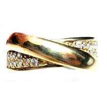 Gvn-anel X Turquia Turco Prata 925 Zirconias Frete 1,00