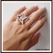 Anel Estrela Em Prata 950 Frete Grátis