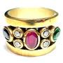 Promoção-fze-anel Turquia Turco Prata Rubi Safira Esmeralda