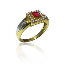 Anel De Formatura Diamantes E Pedra Natural. Qualidade!!!!