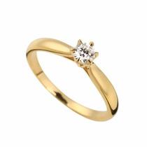 Anel Solitário 2,0grs Diamante 15 Pts - Cwb Joias