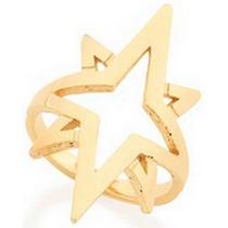 Brinco Estrelas Com Zircônias Rommanel 2015 Folheado Ouro