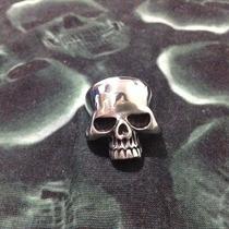 Anel Caveira Em Aço Cirúrgico Skull Brass Cross Mens. 11 Eua