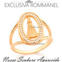 Rommanel Anel Nossa Senhora Aparecida Folheado Ouro 511659