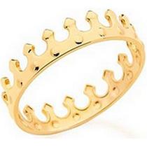 Anel Infantil Coroa Rommanel Folheado A Ouro 512036