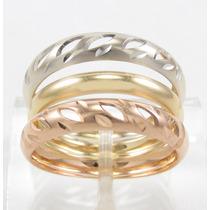 Esfinge Jóias - Anel Design Três Cores Aro21 Ouro 18k 750.