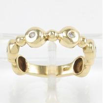 Esfinge Jóias - Anel Design Diamantes Aro14 Ouro 18k 750.
