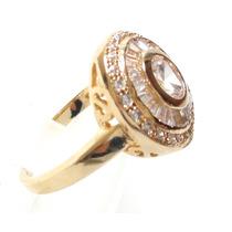 Cartier Inspired Anel Pizza Prata 925 B.ouro Amarelo!!!!!