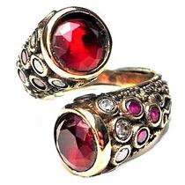Fqy-anel Turquia Turco Prata 925 Rubi Topazios Quartzo Rubi