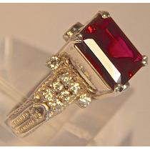 Rsp J3106 Anel Prata 925 Profissão Advogado Rubis Diamantes