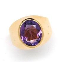 Novo!anel Ametista Dedinho Ouro Rose 18k Fabricante