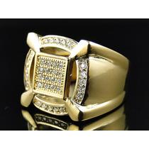 Anel Masculino Em Ouro 18k Com Diamantes Poder