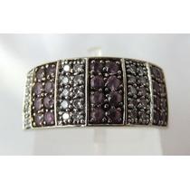 Pocao2005- Anel Ouro Branco 18k Diamantes Vivara! Fret Grati