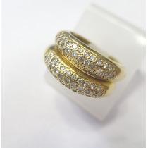 Par De Aparadores Com Diamantes Em Ouro Amarelo