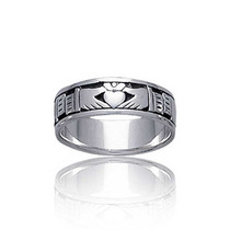 Bling Jewelry Sterling Antiqued Finish Claddagh Anel De Band