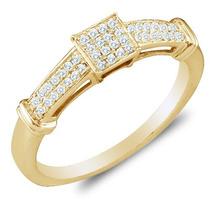 Anel Chuveiro Pavê Quadrado Em Ouro 18quilate Mais Diamantes