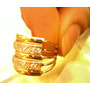 Anel 5 Elos - Prata 950kl - 0uro 12kl Zircônia Frete Gratis