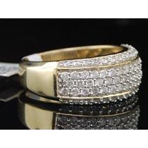 Anel Pavê Em Ouro Com 1 Quilate De Diamantes