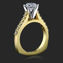 Maravilhoso Anel Solitário Em Ouro 18k E Diamante 35 Pontos