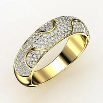 Anel Com 1 Quilate De Brilhantes Ouro Amarelo 18 K!!!!!