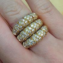 Maravilhoso Anel De Diamantes Em Ouro 18k Exclusivo