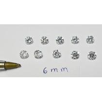 Dal Corsi - Frete Gratis = 10 Zirconias De 6mm Apenas 20,00