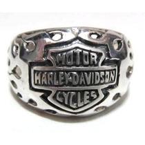 Anel Simbolo Harley C/ Detalhes Vazados (prata De Lei 950)