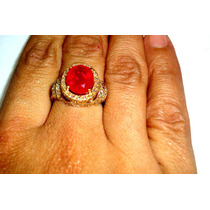 Ivi1388 = Anel 113 Diamantes E Rubi Ouro 18k 750!!!