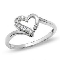 Anel Em Ouro Branco 18 Quilates Mais Diamantes De 1 Ponto