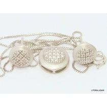 Ivi1388 = Conjunto Vivara Ouro Branco 18k Diamantes !