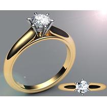 Vivar Jóias Solitário Com 0,35 Quilate De Diamante